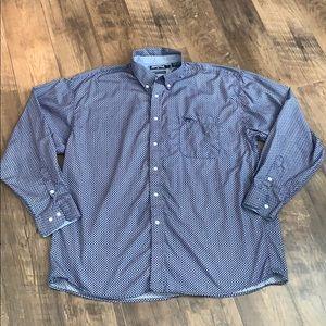Men's Panhandle Slim Blue Barbed Wire Print Shirt